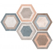 Коллекция RIFT, плитка Hexagono Bushmills Multicolor 23х26,6, Vives